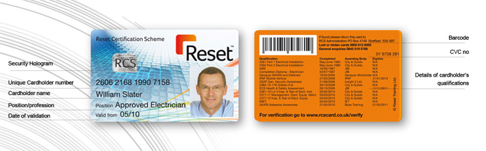 Reset Certification Scheme